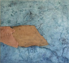 Landscape 65, Marilina Marchica, Abstract Mixed Media, Minimalist, Blue Collage