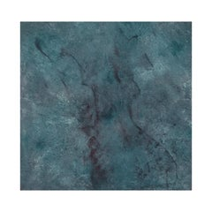 Landscape 67, Contemporary Minimalist Abstract Art Oil Painting Canvas Blue