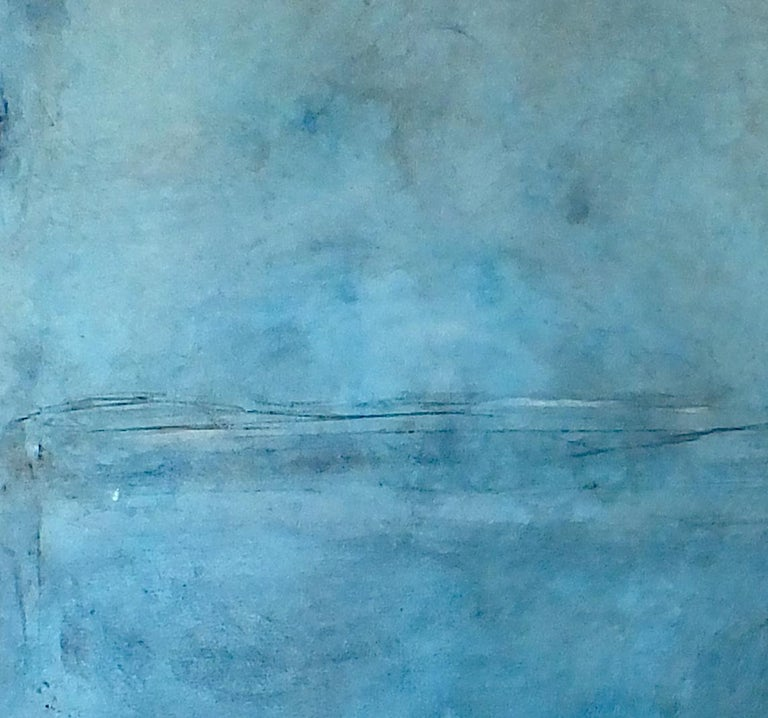 'Landscape 75' is an original minimalist abstract art on canvas by emerging Sicilian artist - Marilina Marchica. It is an oil painting and graphite mixed media which has a rich texture. The subject is focused on Italian nature, sea views, decaying
