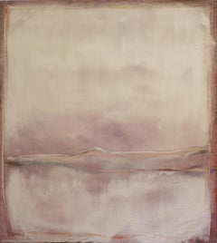 Landscape 92, Contemporary Mixed media Abstract Art Canvas Brown Nature Organic