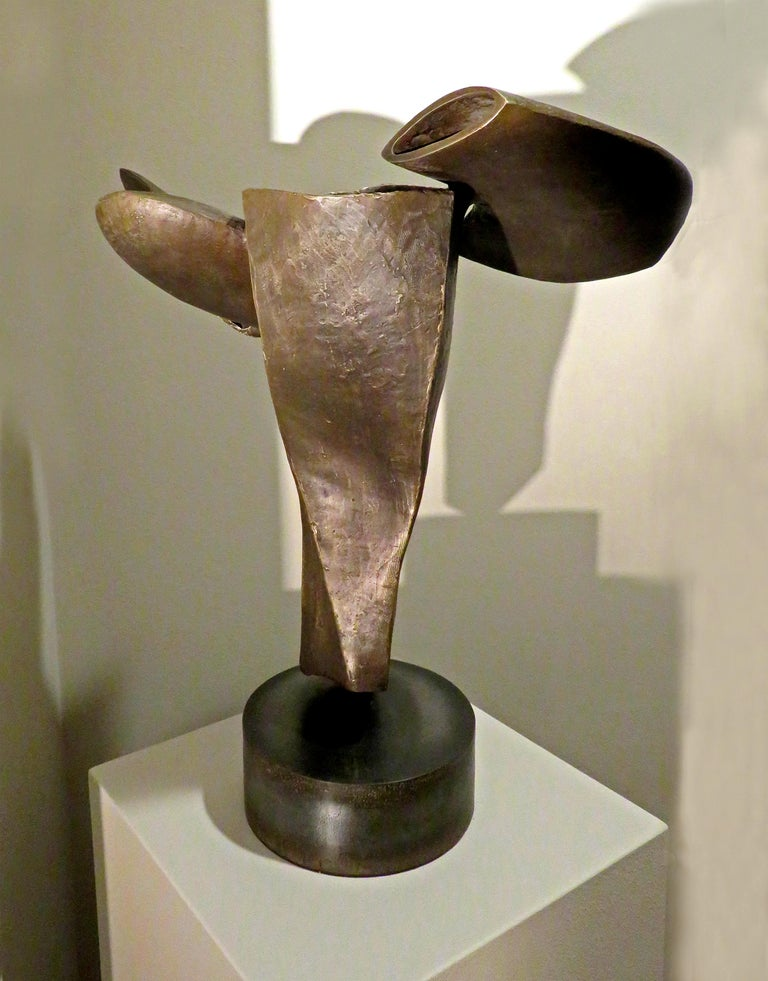 """""""Flying Fishes"""", soaring unique bronze forms human and aquatic For Sale 1"""