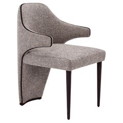 Marilyn Dining Chair with Black Legs