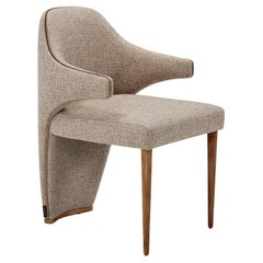 Marilyn Dining Chair with Wood Legs
