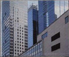 Chicago Windows 1305, Mixed Media on Canvas