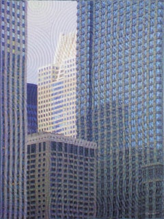 Chicago Windows 1453, Mixed Media on Canvas