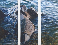 Lake Rock Triptych, Mixed Media on Other
