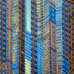 Mannahatta Patchwork 1, Mixed Media on Canvas