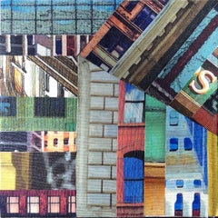 Patchwork City 12, Mixed Media on Canvas