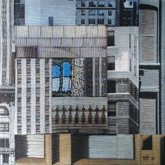 Patchwork City 14, Mixed Media on Canvas