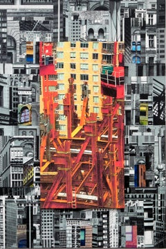 Patchwork City 27, Mixed Media on Canvas