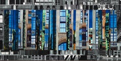 Patchwork City 59, Mixed Media on Canvas