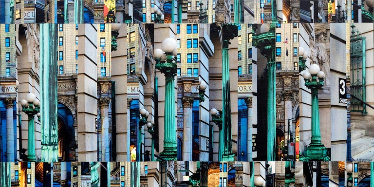 Patchwork City 62, Mixed Media on Canvas - Mixed Media Art by Marilyn Henrion