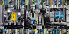 Patchwork City 64, Mixed Media on Canvas