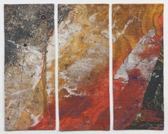Red Rock Triptych, Mixed Media on Other