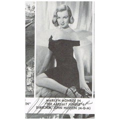 Marilyn Monroe 1950 Autographed Magazine Cut-Out Black and White