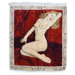 Marilyn Monroe 20th Century Handmade Persian Kashan Rug Woven Nezam Afsari