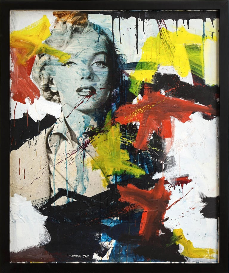 Marilyn Monroe Abstract Painting, circa 1966 For Sale 4