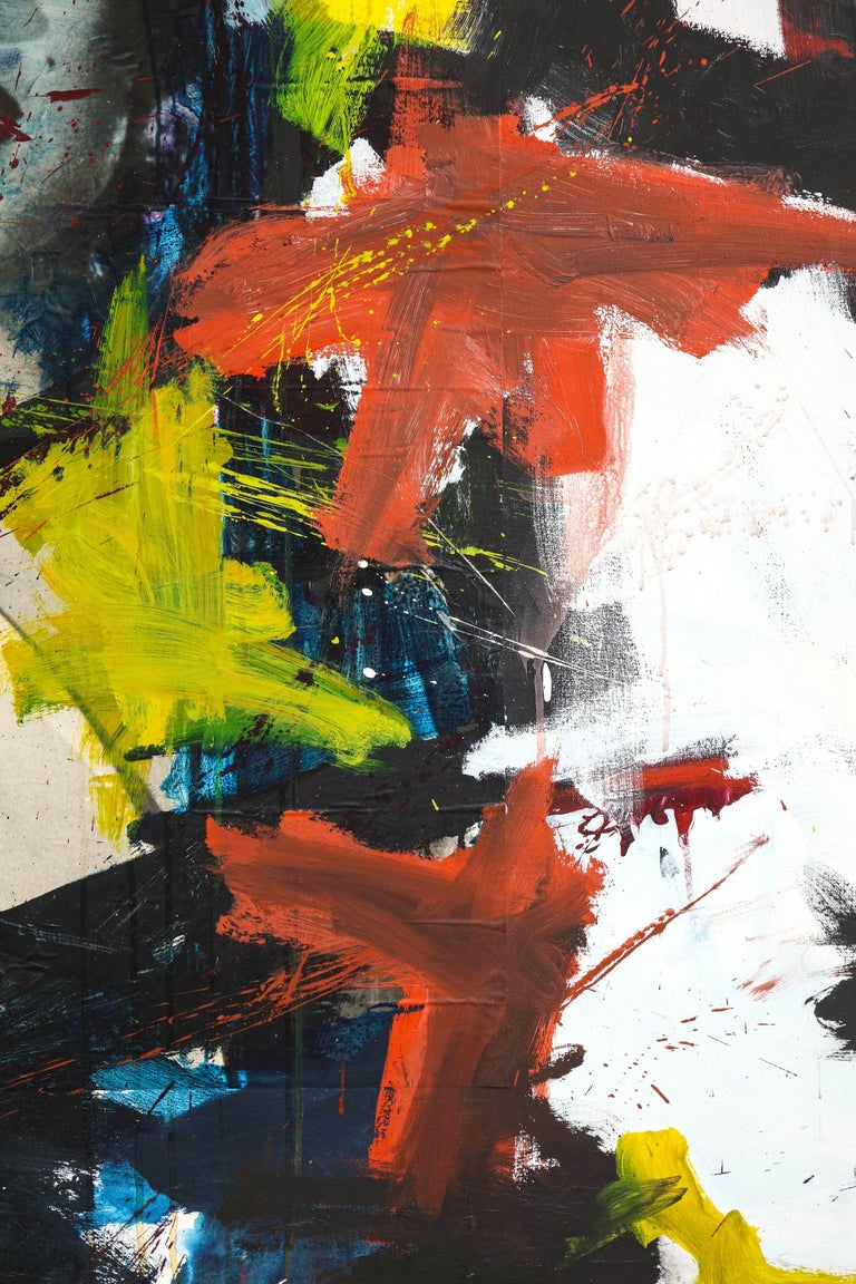 Mid-20th Century Marilyn Monroe Abstract Painting, circa 1966 For Sale