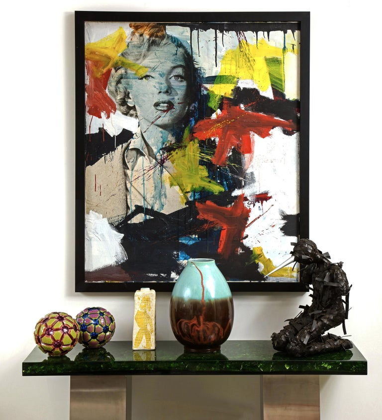 Marilyn Monroe Abstract Painting, circa 1966 For Sale 1