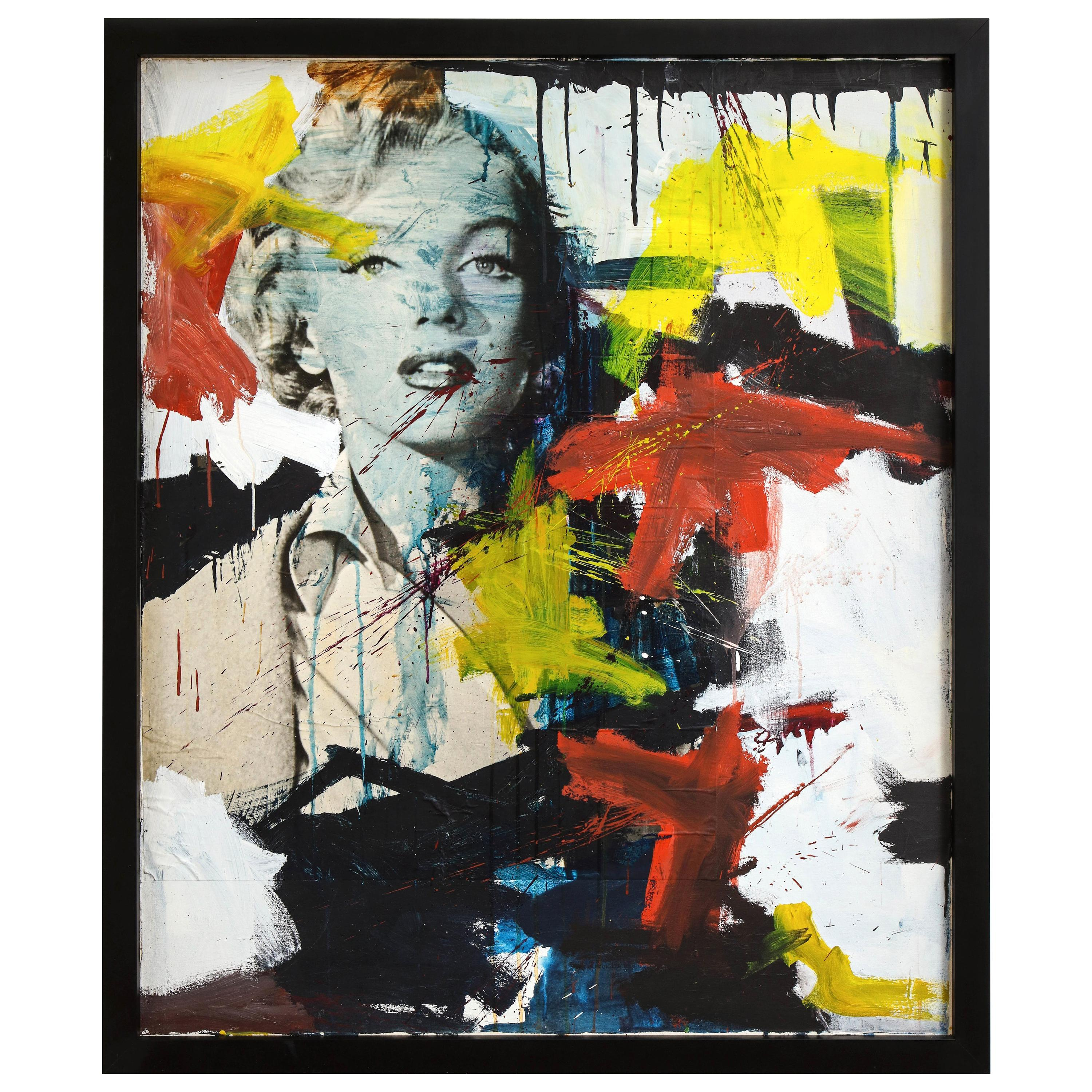 Marilyn Monroe Abstract Collage and Painting, circa 1966