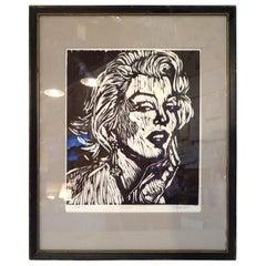 Marilyn Monroe Black and White Print