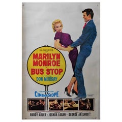 "Marilyn Monroe ""Bus Stop"" 1956 Original Linen Backed Theatrical Poster"