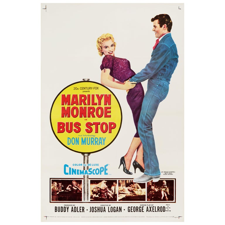 Marilyn Monroe 'Bus Stop' Original Vintage Movie Poster, American, 1956 For Sale
