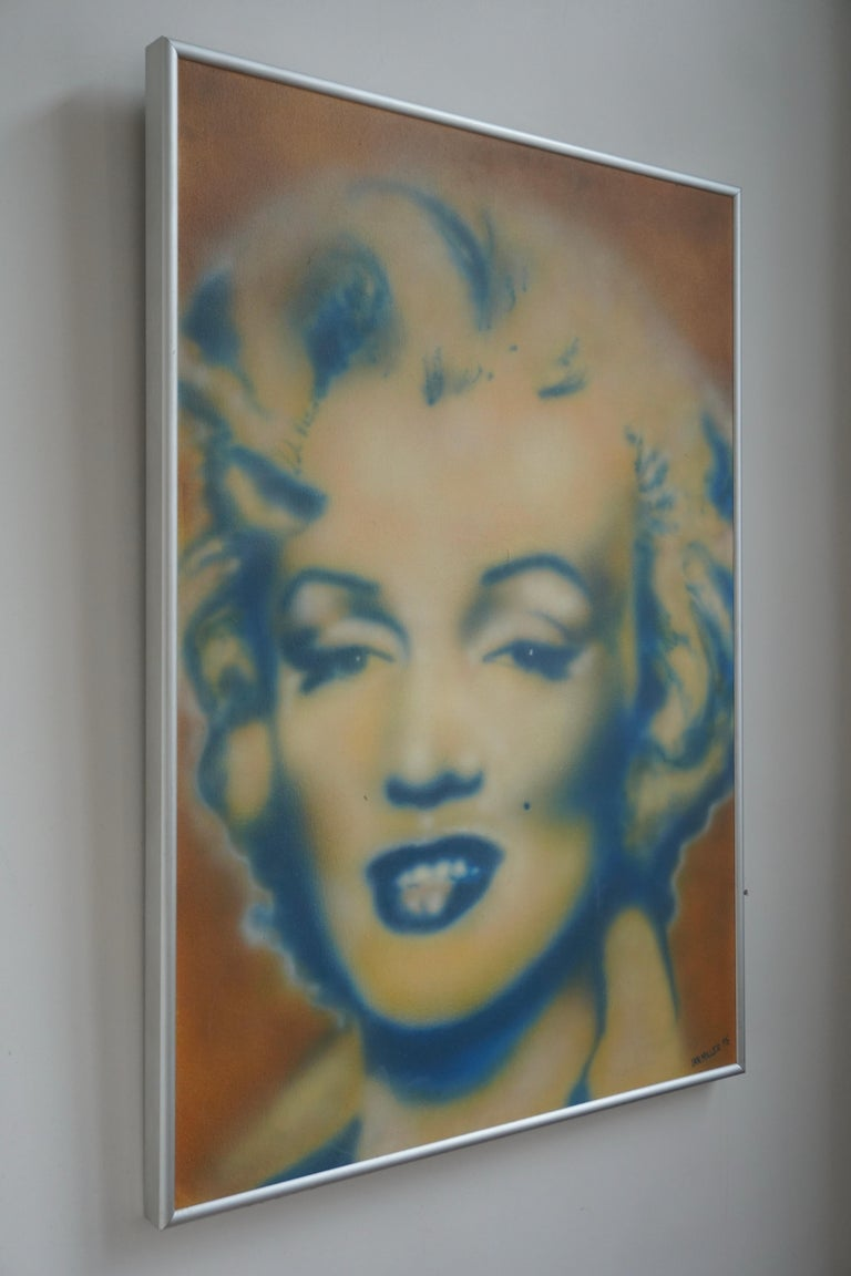 Ian Miller, Marilyn Monroe   Artist: Ian Miller About the painting: Style and technic: Pop Art, contemporary,brushed. Title: Marilyn Monroe Year: 1995 Signed: Signed by artist.