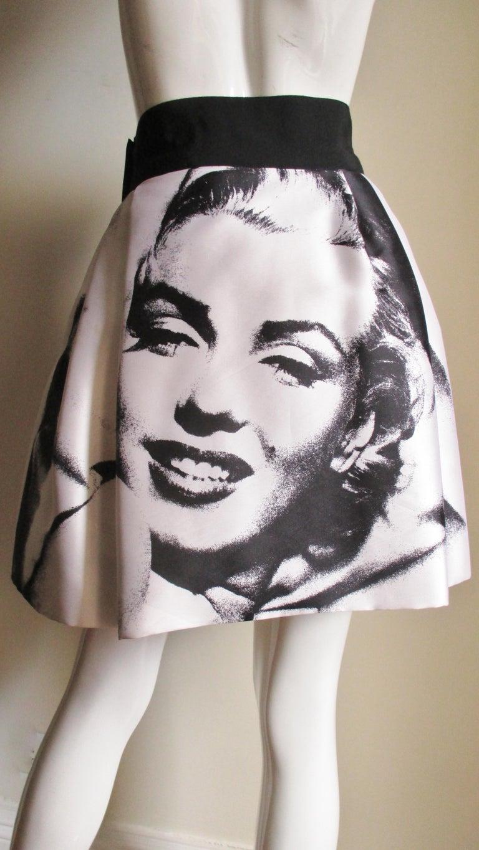 Dolce & Gabbana Marilyn Monroe Print Skirt For Sale 4