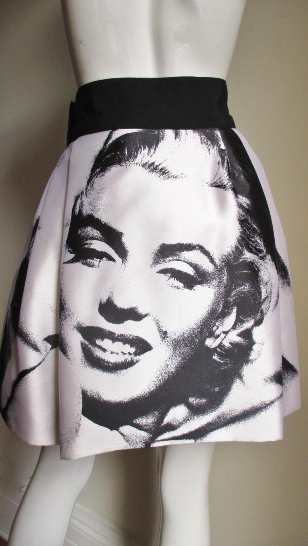 Dolce & Gabbana Marilyn Monroe Print Skirt For Sale 5
