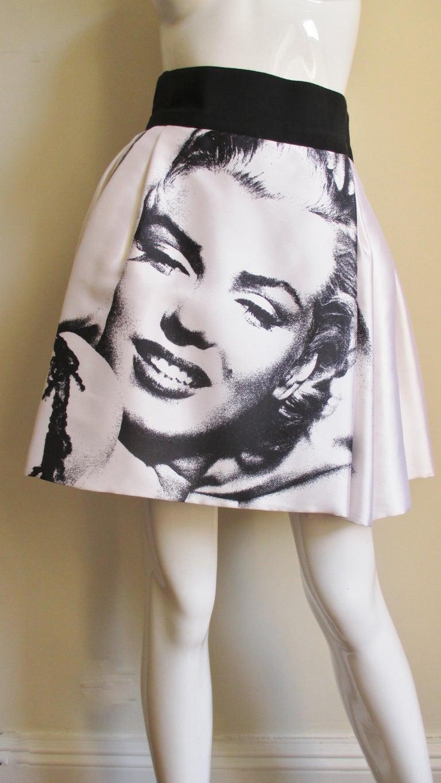Dolce & Gabbana Marilyn Monroe Print Skirt For Sale 2