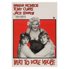 Marilyn Monroe 'Some Like It Hot' Original Vintage Movie Poster, 1959