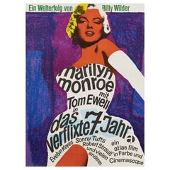 Marilyn Monroe 'The Seven Year Itch' Original Vintage Movie Poster, German, 1966
