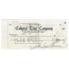 Marilyn Monroe Vintage 1959 Signed Bank Cheque