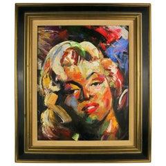 Marilyn Portrait Female Figurative  Oil Painting by Brugatti
