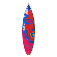 Marilyn, Red/White Surfboard After Andy Warhol