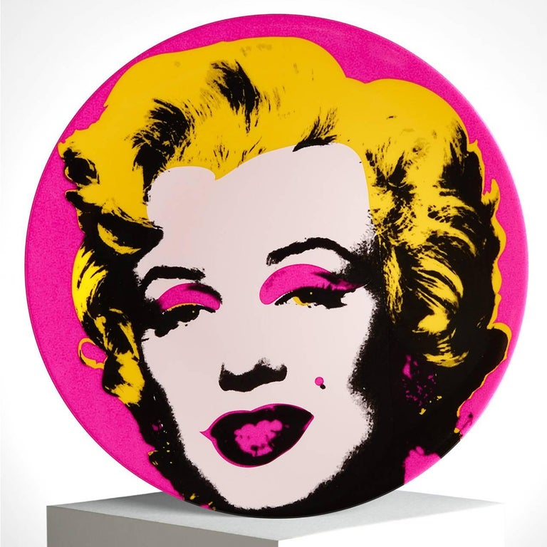 Marilyn Salad or Dessert Plates, after Andy Warhol In Excellent Condition In Jersey City, NJ