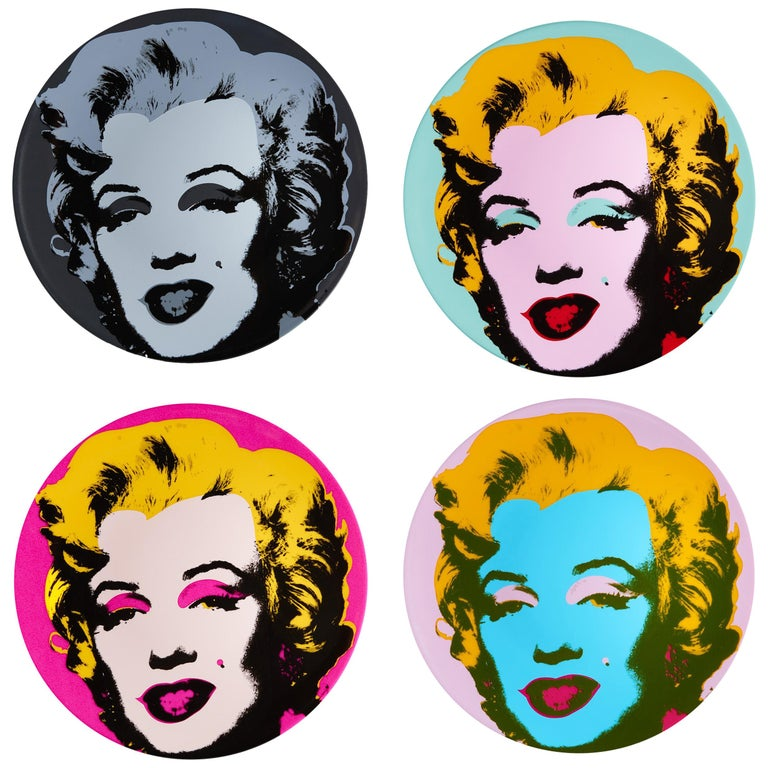 Marilyn Salad or Dessert Plates, after Andy Warhol
