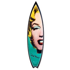 Marilyn 'Turquoise/Carbon' Surfboard After Andy Warhol