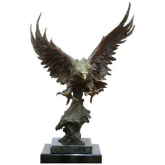 Marilyn Weinstein 'Out Of The Blue' Cast Bronze Eagle Sculpture