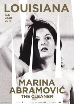 "Marina Abramovic-The Cleaner-33"" x 23.5""-Poster-2017-Contemporary-Black & White"
