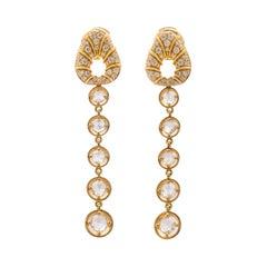 Marina B. 18k Gold & Diamond Earrings