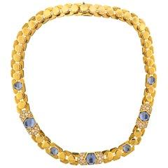 Marina B Aquamarine Diamond Gold Necklace
