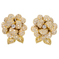 Marina B Colored Diamond Ear-Clips