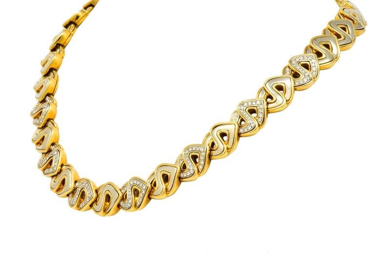 Necklace designed as stylized