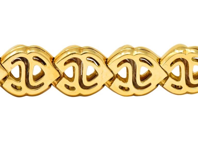 Marina B. Diamond 18 Karat Two-Tone Gold Italian Soroya Link Necklace For Sale 1