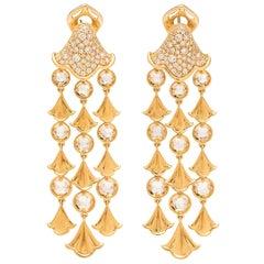 Marina B. Diamond and 18 Karat Gold Chandelier Earrings
