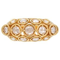 Marina B. Diamond and 18 Karat Gold Dome Ring