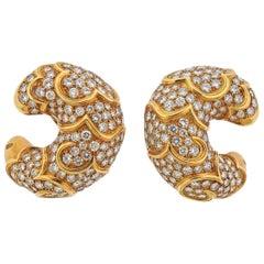 Marina B Diamond Gold Earrings