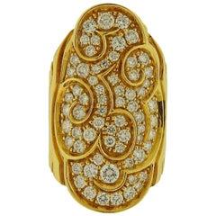 Marina B Diamond Onda Gold Ring
